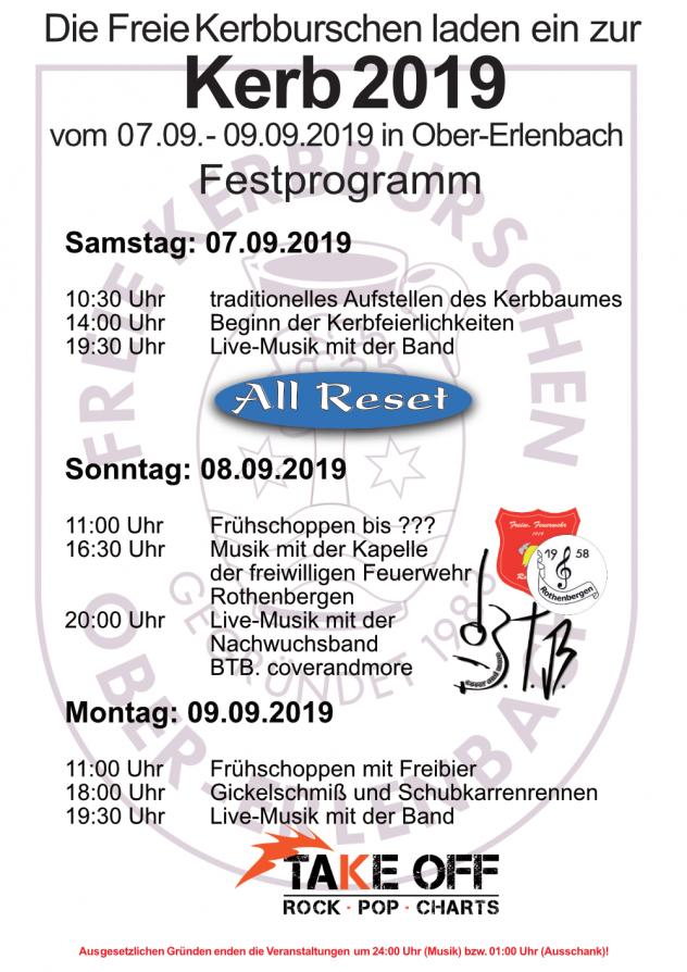 Kerb Programm 2019